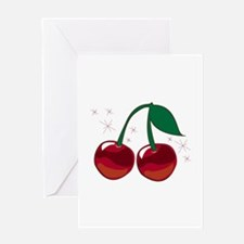 Sparkling Cherries Greeting Cards