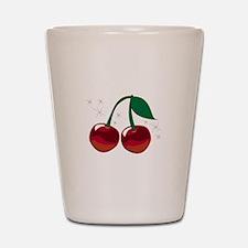 Sparkling Cherries Shot Glass
