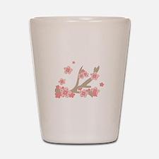 Cherry Blossoms Shot Glass