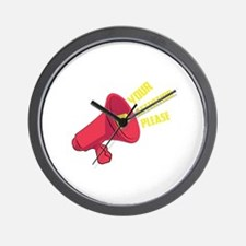 Your Attention Please Wall Clock