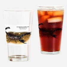 Common Black Scorpion Drinking Glass
