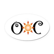 Ocean City Oval Car Magnet