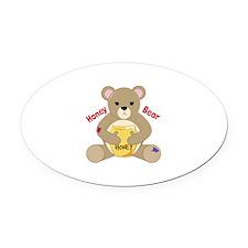 Honey Bear Oval Car Magnet