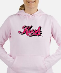 KUSH - 1 pink Women's Hooded Sweatshirt