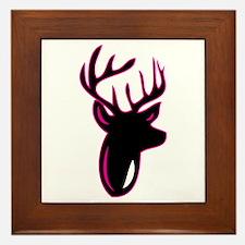 Fuchia Buck Framed Tile