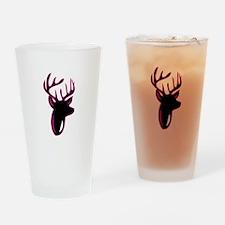 Fuchia Buck Drinking Glass