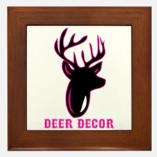 Deer Decor Framed Tile