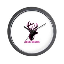 Deer Decor Wall Clock