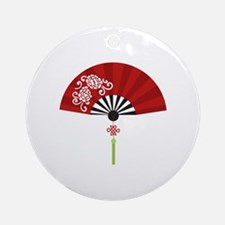 Asian Fan Ornament (Round)