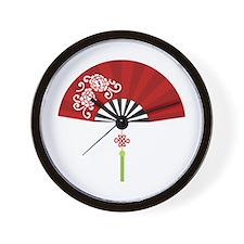 Asian Fan Wall Clock
