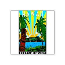 """Funny Polynesian Square Sticker 3"""" x 3"""""""