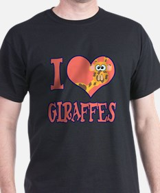 I Love (Heart) Giraffes T-Shirt