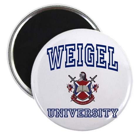 """WEIGEL University 2.25"""" Magnet (100 pack)"""