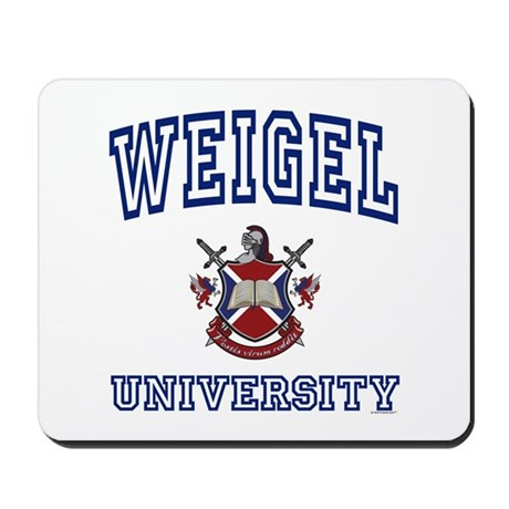 WEIGEL University Mousepad