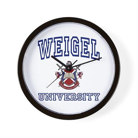WEIGEL University Wall Clock