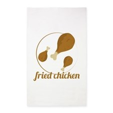 Fried Chicken 3'x5' Area Rug