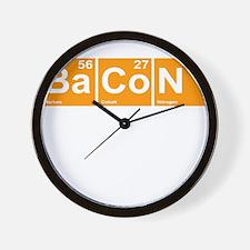 Bacon Elements Wall Clock