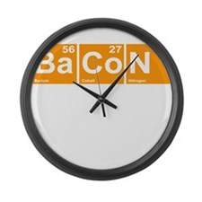 Bacon Elements Large Wall Clock