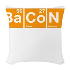 Bacon Elements Woven Throw Pillow