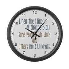 Winds of Change Large Wall Clock