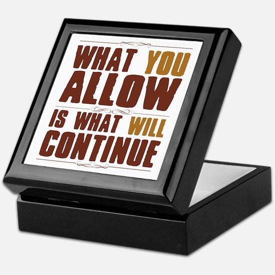 What You Allow Keepsake Box