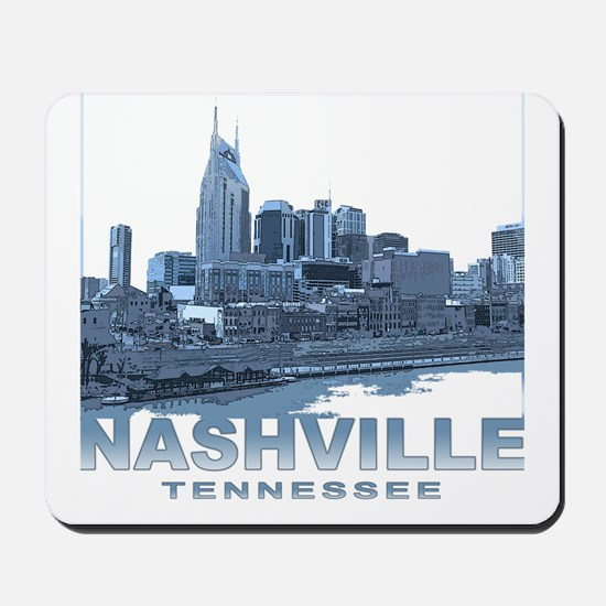 Nashville Tennessee Skyline Mousepad