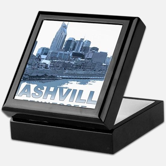 Nashville Tennessee Skyline Keepsake Box