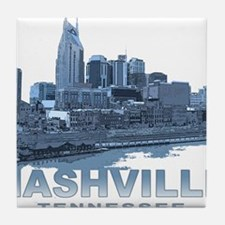 Nashville Tennessee Skyline Tile Coaster