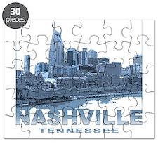 Nashville Tennessee Skyline Puzzle