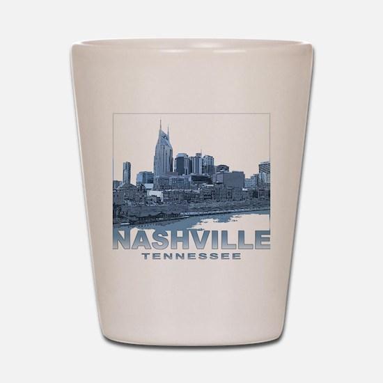 Nashville Tennessee Skyline Shot Glass