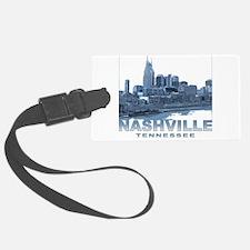 Nashville Tennessee Skyline Luggage Tag