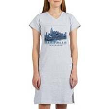 Nashville Tennessee Skyline Women's Nightshirt