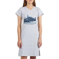Nashville Tennessee Skyline Women's Nightshirt