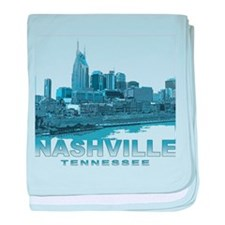 Nashville Tennessee Skyline baby blanket