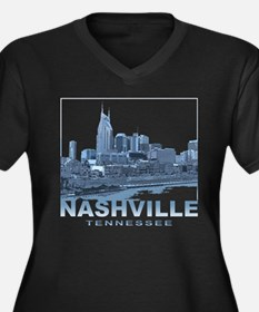 Nashville Tennessee Skyline Plus Size T-Shirt
