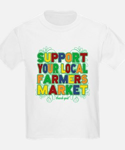 Support Your Local Farmers Mark T-Shirt