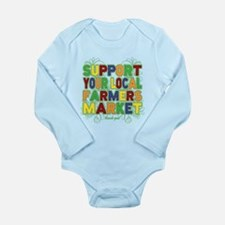 Support Your Local Far Long Sleeve Infant Bodysuit