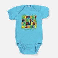 Support Your Local Farmers Market Baby Bodysuit