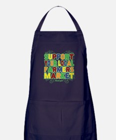 Support Your Local Farmers Market Apron (dark)