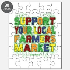 Support Your Local Farmers Market Puzzle