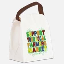 Support Your Local Farmers Market Canvas Lunch Bag
