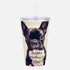 Happy Mother's Day French Bulldog Acrylic Double-w