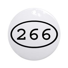 266 Oval Ornament (Round)