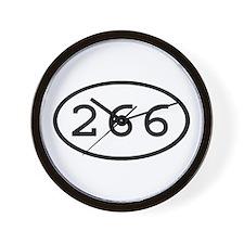 266 Oval Wall Clock