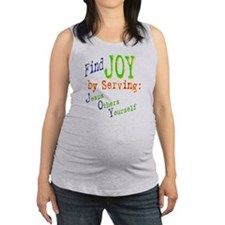 find joy serving Jesus Others Yourself Maternity T