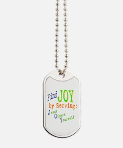 Find Joy Serving Jesus Others Yourself Dog Tags