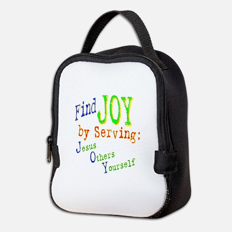 find joy serving Jesus Others Yourself Neoprene Lu