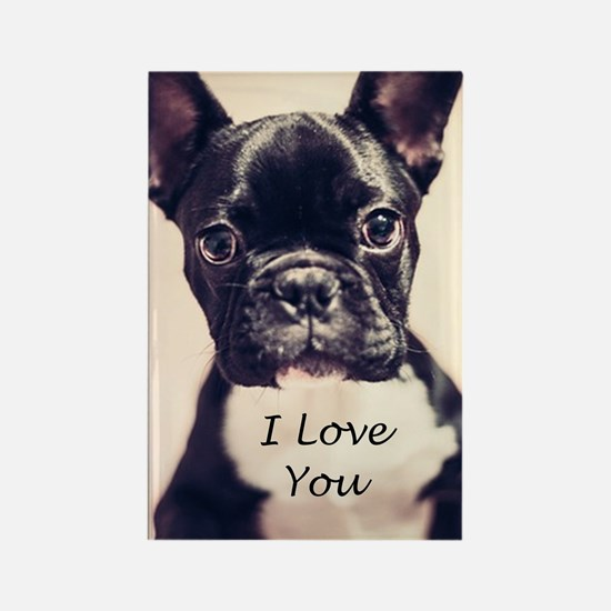 I Love You French Bulldog Magnets