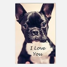 I Love You French Bulldog Postcards (package Of 8)