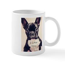 I Love You French Bulldog Mugs